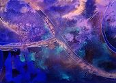 Dark purple blue watercolor background