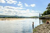 Man in River Dwyryd, Portmeirion