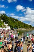 Families holidaying, Portmeirion, North Wales