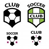 vector soccer club emblem ball