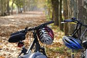 bicycles on a autumn trip