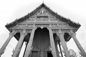 Buddhist temple (B&W)