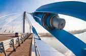 Samara, Russia - October 5, 2014: Kirovsky Cable Bridge Across The Samara River In Kirovsky District