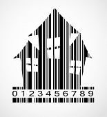 Barcode Halloween House  Image Vector Illustration