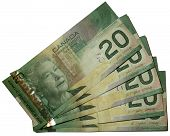 stock photo of twenty dollar bill  - Canadian dollars bank notes  - JPG