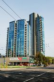 Vilnius City Skyscrapers In Savanoriu Street