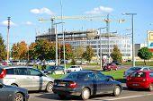 Cars In Zverynas District In Vilnius City Autumn Time