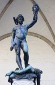 Perseus Killed Medusa Statue On Piazza Della Signoria In Florenc