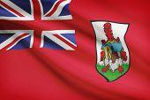 Flag Blowing In The Wind Series - Bermuda