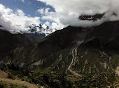 Annapurna Iii Glacier And Annapurna Iv During Monsoon