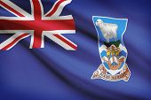 Flag Blowing In The Wind Series - Falkland Islands