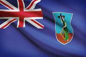 Flag Blowing In The Wind Series - Montserrat