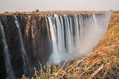 Silk water in Victoria Falls, View from Zimbabwe