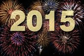pic of midnight  - new year 2015 with firework at midnight - JPG