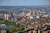 Beacon Hill and Zakim Bunker Hill Bridge, Boston