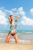 Beautiful woman on the beach. Thailand.