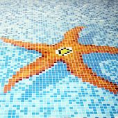 Swimming Pool Tiled Starfish Design.
