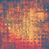Grunge background or texture for your design. With yellow, brown, red, orange patterns