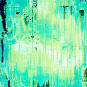 Vintage old texture for background. With yellow, green, blue patterns