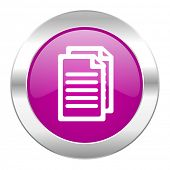 document violet circle chrome web icon isolated