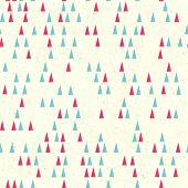 Christmas tree seamless pattern. Vector