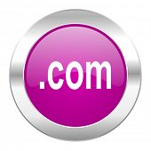 com violet circle chrome web icon isolated