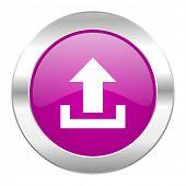 upload violet circle chrome web icon isolated