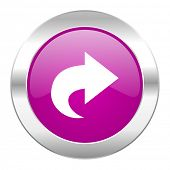 next violet circle chrome web icon isolated