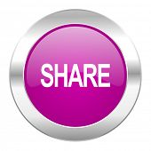 share violet circle chrome web icon isolated