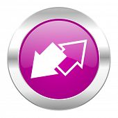 exchange violet circle chrome web icon isolated