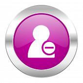 remove contact violet circle chrome web icon isolated