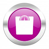 weight violet circle chrome web icon isolated