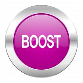 boost violet circle chrome web icon isolated