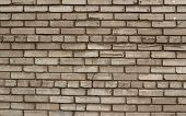 Texture Of Old Wall Of Gray Brick With Cracks