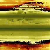 Grunge texture, may use as background. With yellow, brown, orange, green patterns