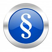 paragraph blue circle chrome web icon isolated
