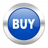 buy blue circle chrome web icon isolated