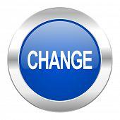 change blue circle chrome web icon isolated