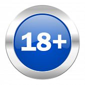 adults blue circle chrome web icon isolated