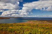 Lake Huron at Cape Croker Autumn Fall Forest Trees landscape
