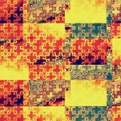 Old abstract texture with grunge background. With yellow, red, violet, green patterns