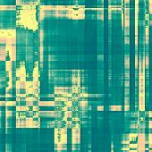 Old texture with delicate abstract pattern as grunge background. With yellow, green patterns