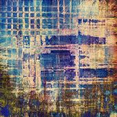 Grunge vintage old background. With yellow, brown, blue patterns