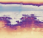 Old grunge textured background. With yellow, purple, violet, blue patterns