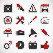 Car Service Icons - Red