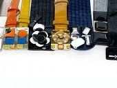 Set of female fashion belts