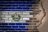 Dark Brick Wall With Plaster - El Salvador