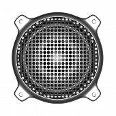 3D Metal Speaker With Grill Sound System Deejay Dj Tools