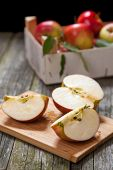 Fresh organic red apples