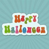 Colorful Happy Halloween text design for Halloween party celebration on stylish background, can be u